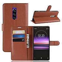 Чехол-книжка Litchie Wallet для Sony Xperia XZ4 / Xperia 1 Коричневый, фото 1