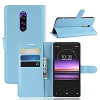 Чехол-книжка Litchie Wallet для Sony Xperia XZ4 / Xperia 1 Голубой, фото 1