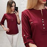 Блузка /блуза с пуговками на груди, модель 830 , цвет красный