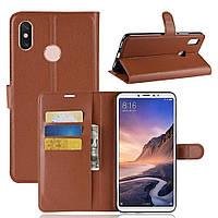 Чехол-книжка Litchie Wallet для Xiaomi Mi Max 3 Коричневый, фото 1