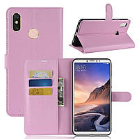 Чехол-книжка Litchie Wallet для Xiaomi Mi Max 3 Светло-розовый, фото 1