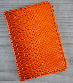 Обложка для документов. Автодокументы Змея Оранжевый №7225-22