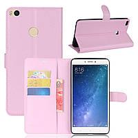 Чехол-книжка Litchie Wallet для Xiaomi Mi Max 2 Светло-розовый, фото 1