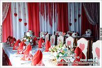 """Свадебное оформление в красном цвете. Ресторан """"Бавария"""" г. Полтава, """"Аллея смаку"""""""