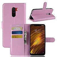 Чехол-книжка Litchie Wallet для Xiaomi Pocophone F1 Светло-розовый