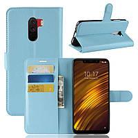 Чехол-книжка Litchie Wallet для Xiaomi Pocophone F1 Голубой