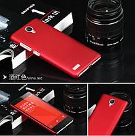 Чехол накладка бампер для Xiaomi Redmi Note бордовый, фото 1