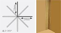 Угол гибкий ПВХ универсальный (3м)-Белый и под дерево