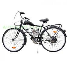 Велосипед (в сборе с двигателем)   Moto-bike road 28 Black   (50см3, 3Hp, бак 1,5л)   KL