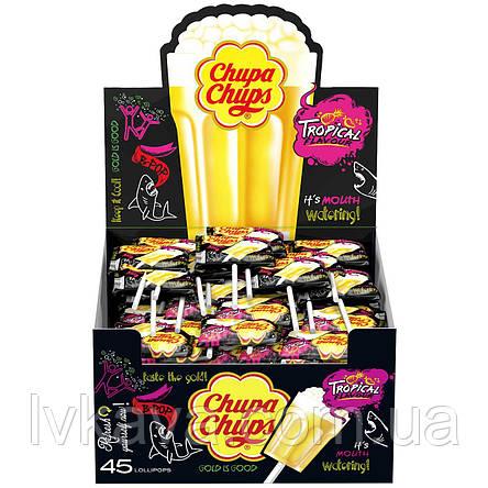 Карамель - шипучка Chupa Chups B-POP тропические фрукты , 16,8  гр, фото 2