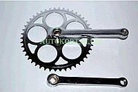 Звезда велосипедная (передняя)   46T   (+2 шатуна L-165mm, под квадрат, хром)   VELL