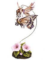 Статуэтка Veronese Фея-малютка на бабочке 72459, КОД: 177983