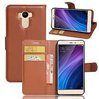 Чехол-книжка Litchie Wallet для Xiaomi Redmi 4 / Redmi 4 Prime Коричневый