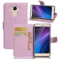 Чехол-книжка Litchie Wallet для Xiaomi Redmi 4 / Redmi 4 Prime Светло-розовый