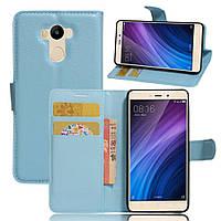 Чехол-книжка Litchie Wallet для Xiaomi Redmi 4 / Redmi 4 Prime Голубой