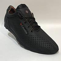 Мужские кожаные кроссовки Columbia / черные 40, 42 р