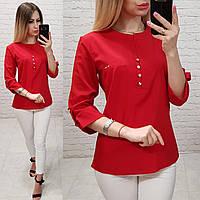 Блузка /блуза з ґудзиками на грудях, модель 830 , колір червоний, фото 1