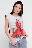 Жіноча футболка з модним принтом 42,44,46