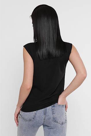 Молодіжна жіноча футболка з цікавим принтом, фото 2