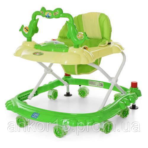 Ходунки детские M 3166 A с игровой дугой  Зеленый