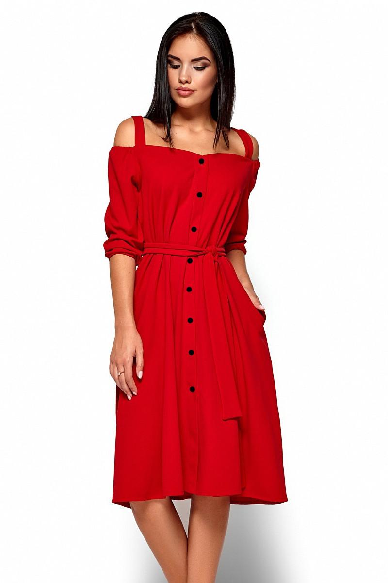 c443500aeea039 S, M, L) Вишукане червоне плаття-міді Letisia - купити в інтернет ...