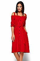 (M / 44-46) Вишукане червоне плаття-міді Letisia