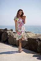 Яркое летнее платье Ассиметрия 04005