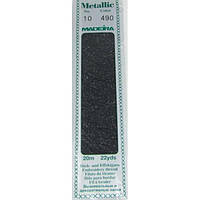 490 Madeira Metallic Perle №10 , 2-х слойные,спираль 20м.