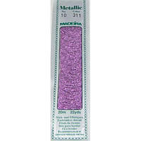 311 Madeira Metallic Perle №10 , 2-х слойные,спираль 20м.