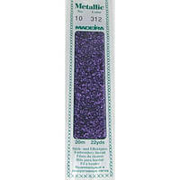 312 Madeira Metallic Perle №10 , 2-х слойные,спираль 20м.
