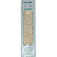 320 Madeira Metallic Perle №10 , 2-х слойные,спираль 20м.