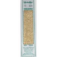 324 Madeira Metallic Perle №10 , 2-х слойные,спираль 20м.