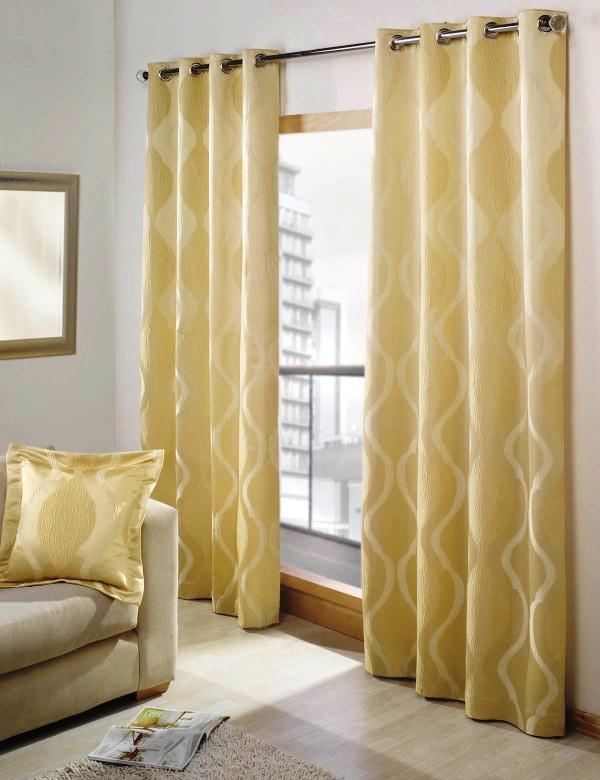 Расход ткани для штор на крупных люверсах