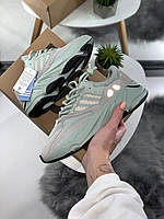 Кроссовки Adidas X Kanye West yeezy boost 700 v2 Mint with grey Мятные с серым