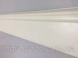 Плинтус деревянный крашенный Ясень 14 см