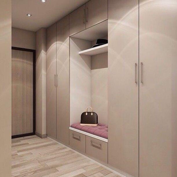 Шкафы для прихожих с мягкой сидушкой