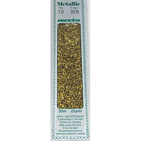 326 Madeira Metallic Perle №10 , 2-х слойные,спираль 20м.