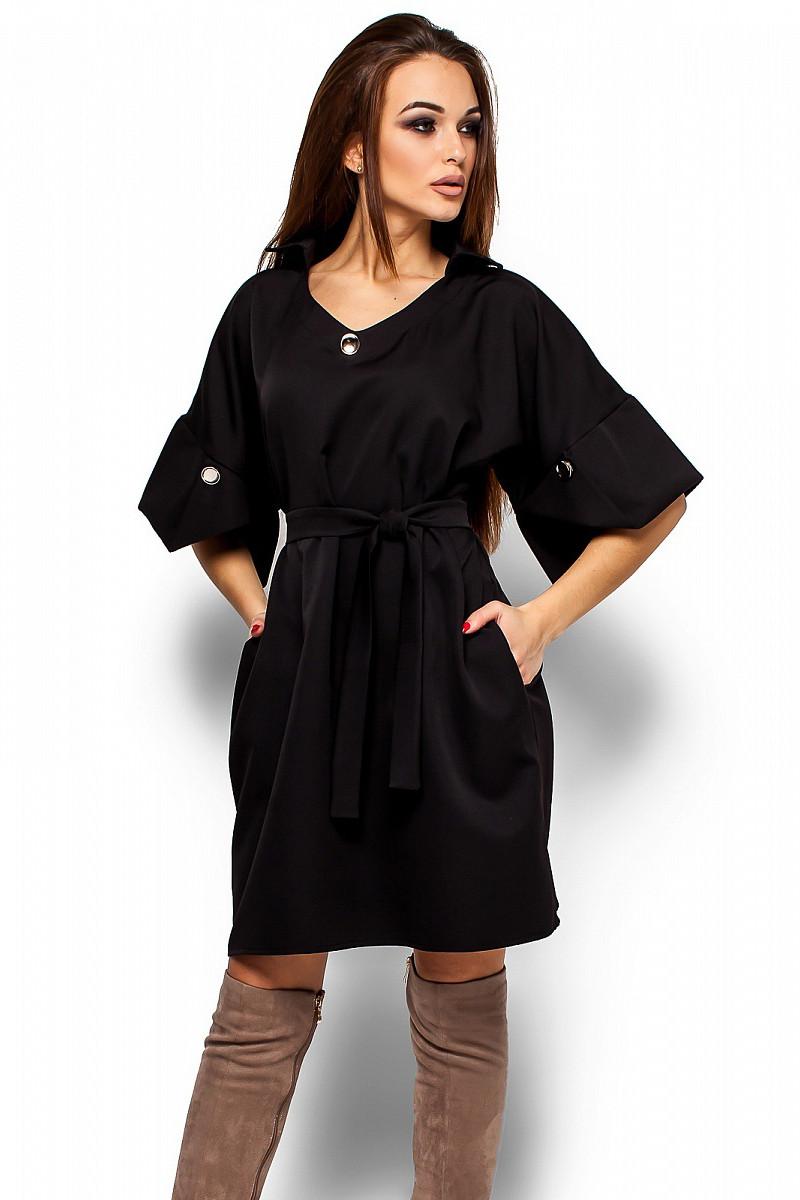 (S, M, L) Ультрастильне чорне повсякденне плаття Valery