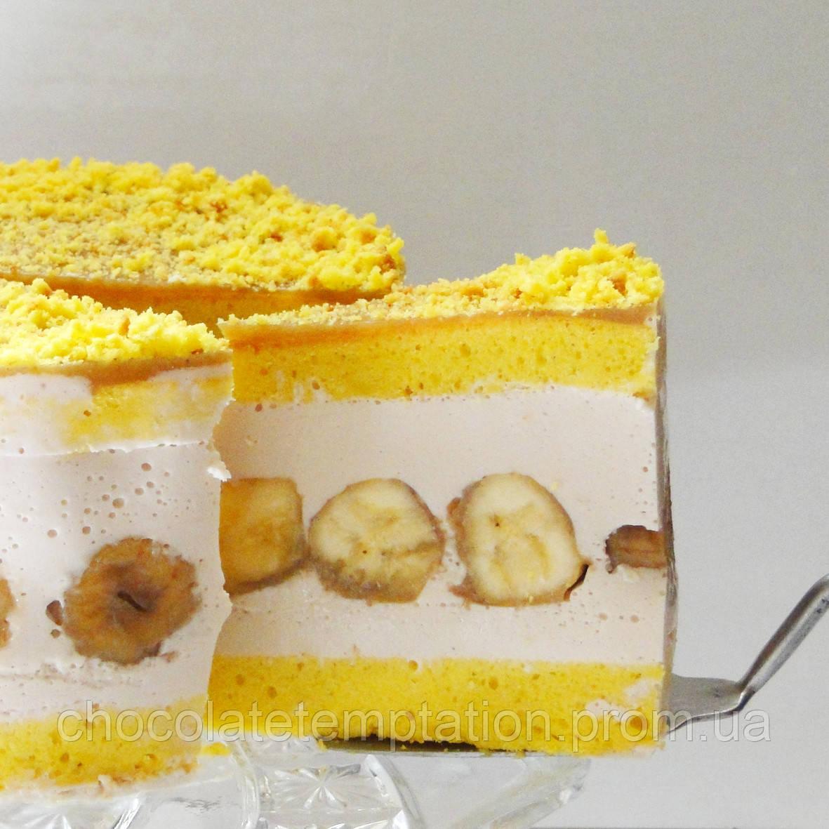 Бананово-творожный торт