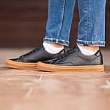 Чоловічі кросівки South Agony BLACK, класичні шкіряні кросівки чоловічі шкіряні кеди, фото 3