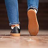Чоловічі кросівки South Agony BLACK, класичні шкіряні кросівки чоловічі шкіряні кеди, фото 7