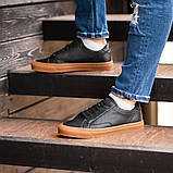 Чоловічі кросівки South Agony BLACK, класичні шкіряні кросівки чоловічі шкіряні кеди, фото 5