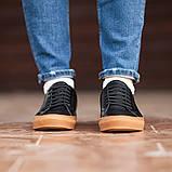 Чоловічі кросівки South Agony BLACK, класичні шкіряні кросівки чоловічі шкіряні кеди, фото 4