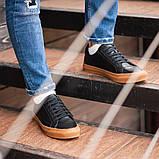 Чоловічі кросівки South Agony BLACK, класичні шкіряні кросівки чоловічі шкіряні кеди, фото 6