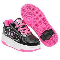 ba2ed68f Роликовые кроссовки Heelys Strike Junior Girls Skate Shoes 31.5 (20)  Черно-розовые (