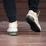 Чоловічі кросівки South Rage LT.GREY, класичні шкіряні кросівки чоловічі шкіряні кеди, фото 7