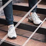 Чоловічі кросівки South Rage LT.GREY, класичні шкіряні кросівки чоловічі шкіряні кеди, фото 3