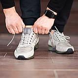 Чоловічі кросівки South Rage LT.GREY, класичні шкіряні кросівки чоловічі шкіряні кеди, фото 4