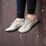 Чоловічі кросівки South Rage LT.GREY, класичні шкіряні кросівки чоловічі шкіряні кеди, фото 5