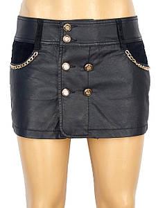 Женские юбка-шорты с золотыми цепочками (42)